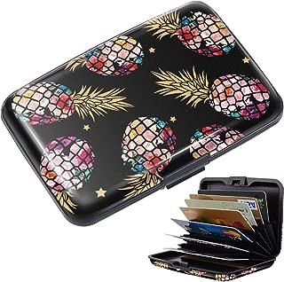 Credit Card Holder for Women,RFID Blocking Slim Hard Mini Credit Card Case ID Case Travel Wallet for Women,Black