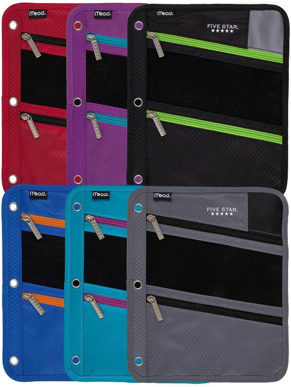 Fünf Star Reißverschluss Tasche Schutzhülle, Schutzhülle, Schutzhülle, Farben sortiert, 6 Stück (73112) B00X7X36FS | Genial Und Praktisch  3a0d23