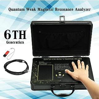 JYtop 2019 Black New 6th Generation Portable Quantum Magnetic Resonance Body Analyzer English+Russian