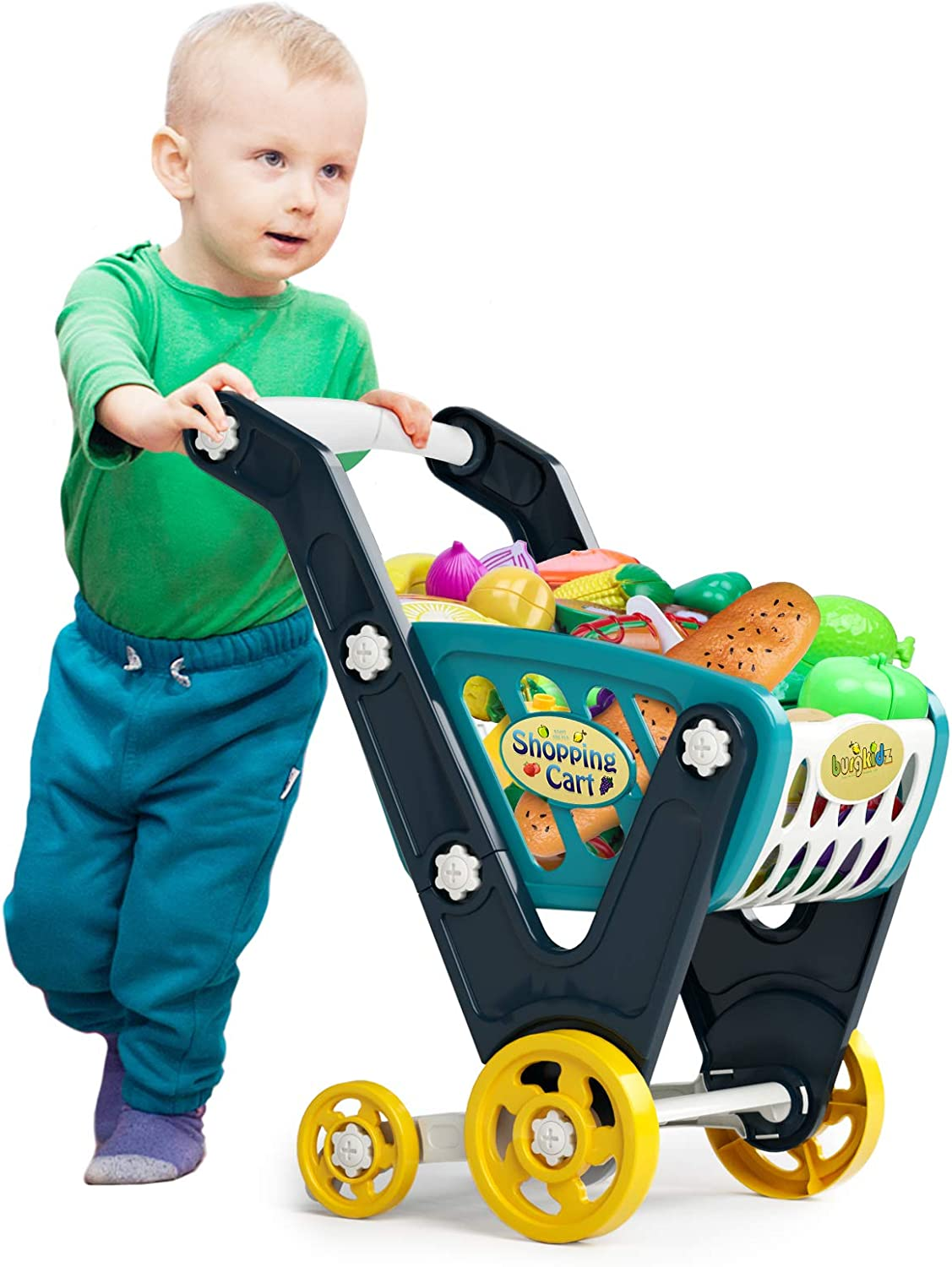 burgkidz Shopping Cart for Kids, Groceries Wagons for Toddlers,