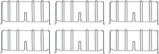 Quantum Storage Systems FG-4 Non-Marring Floor Glides for Wire Shelving Units Pack of 4