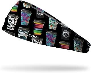 JUNK Brands Team Café Big Bang Lite Headband, Black, One Size