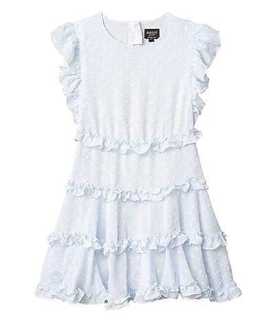 Bardot Junior Maryam Frill Dress (Big Kids) (Sky) Girl