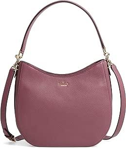 Kate Spade New York Oakwood Street Lora Pebble Leather Shoulder bag, Plumberry