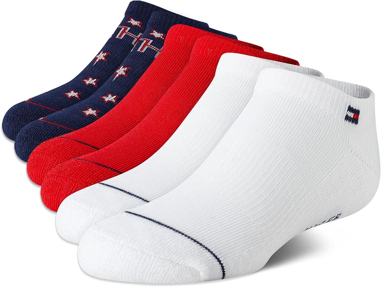 Tommy Hilfiger Girls' Athletic Socks - No Show Ankle Socks (6 Pack)