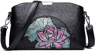 InterestPrint Circular Ornament Fish Womens Top Handle PU Leather Shoulder Satchel Bag