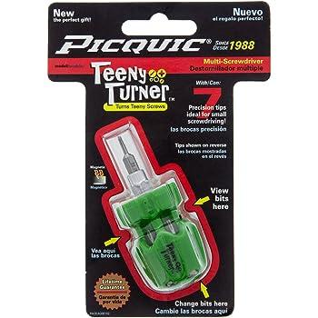 Black Opaque micro multi-bit screwdriver with seven bits Picquic 46107 Teeny Turner