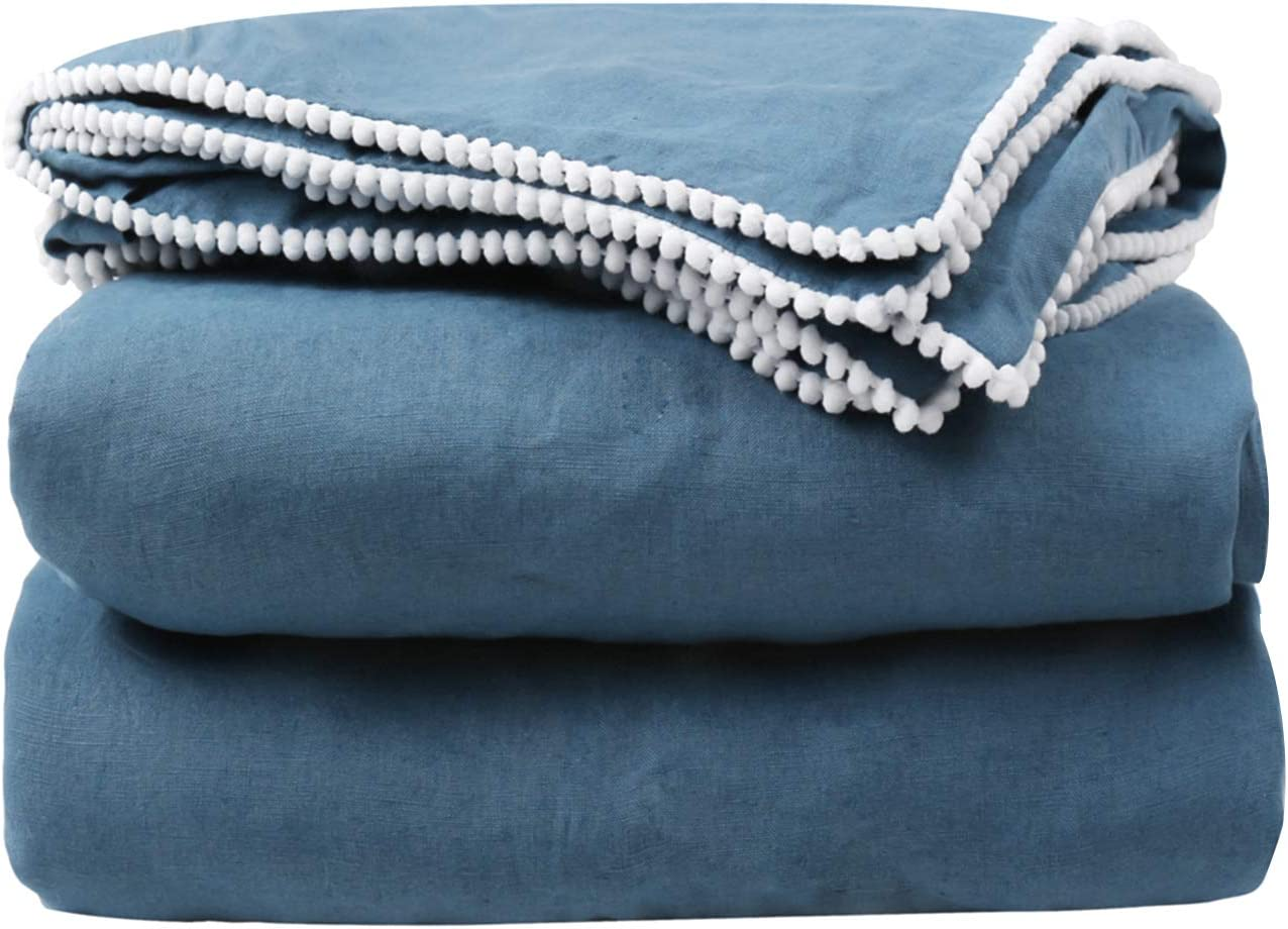 SimpleOpulence Miami Mall 100% Pure All items in the store Linen Duvet Cover x Set 68