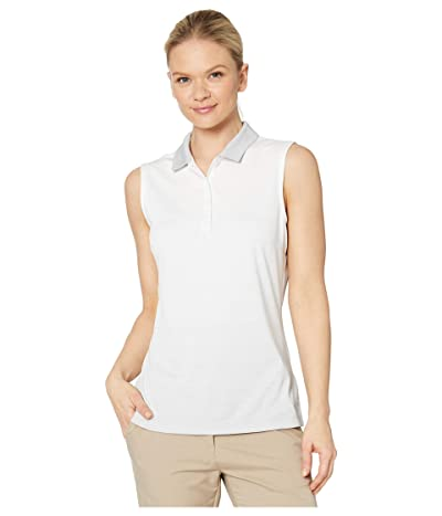 PUMA Golf Ombre Sleeveless Polo (Bright White) Women
