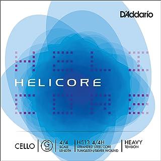 D'Addario Helicore Cello Single G String, 4/4 Scale, Heavy Tension