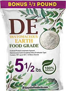 EasyGo Products Diatomaceous Earth - 100% Natural Food Grade - DE Fresh Water – 5.5 Pounds