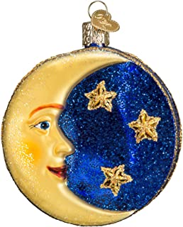 Old World Christmas Ornaments: Outer Space Gifts Glass Blown Ornaments for Christmas Tree, Man on The Moon