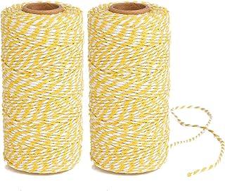 GooGou 600 Feet Natural Jute Twine Crafts Gift Rope Packing String for Festive Decoration,Gardening,Gifts,DIY Crafts,Wedding,Bundling 3mm,2Rolls x 300feet