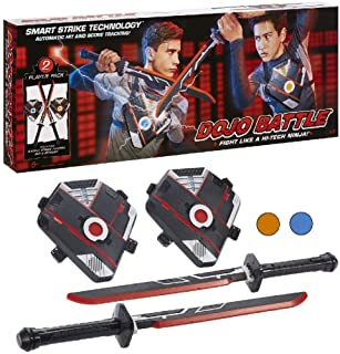 Dojo Battle Electronic Battling Game with Smart Strike Technology Swords and Chest..