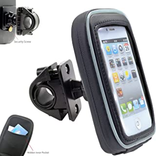 AccessoryBasics 360° Swivel Smartphone Bike Motorcycle Handlebar Mount w/Detachable Water Resistant 3D Touch Enable Case for iPhone 11 Pro XR XS MAX X 8 Galaxy S10 Note (Fits pole/bar up to 1.4 inch