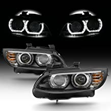 For 2007-2010 BMW 3-Series E93 E92 335i 328i 3D Halo LED Projector Headlights Pair [HID Xenon Type] LH+RH Pair