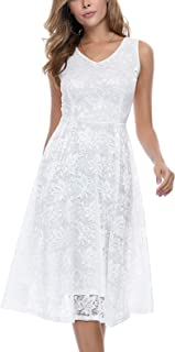 Best white v neck midi dress Reviews