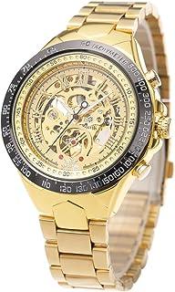 25355c57d5 ManChDa Relojes de Hombre Relojes Automáticos Clásicos Reloj Mecánico  Esqueleto Acero Inoxidable Timeless Diseño Mecánico Vapor