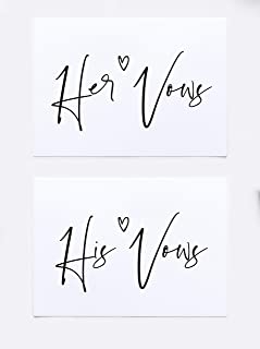 Best his and her vow cards Reviews