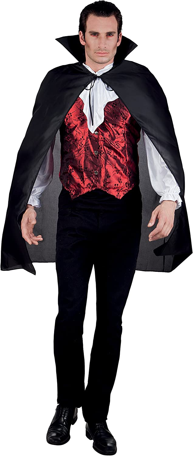 New Free Shipping Boland 96922–Vampire Manufacturer OFFicial shop Cape with Stand Black Collar Up 120cm