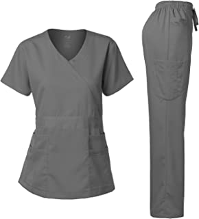 Women's Scrub Set Stretch and Soft Y-Neck Top and Pants