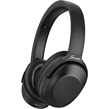 Hybrid Active Noise Cancelling Headphones, Wireless Bluetooth Headphones Over Ear, Hi-Fi Sound Deep Bass, Soft Protein Earpads, 30H Playing Time, for Online Class, Travel, Home Office