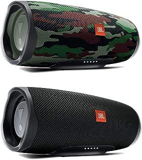 JBL Charge 4 Waterproof Portable Wireless Bluetooth Speaker Bundle - Pair (Black/Camo)