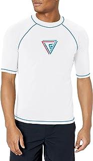 Kanu Surf Men's Fiji UPF 50+ Short Sleeve Sun Protective Rashguard Swim Shirt