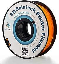 3D Solutech See Through Orange 1.75mm Flexible 3D Printer Filament 2.2 LBS (1.0KG)