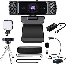 60FPS 1080P Webcam Kits, NexiGo FHD USB Web Camera with Tripod Stand, Video Conference Lighting, USB Microphone & Speaker,...