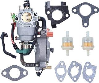 Juego de Juntas de Deflector térmico de solenoide de carburador de Combustible Dual para Honda GX390 GX 390 Chino 188F 190F 4-5KW Motor Motor generador
