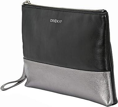 CRICKIT® Clutch Damen CLUTCH | Farblich abgesetzte Clutch für Damen aus 100% Leder |