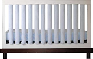 Pure Safety Vertical Crib Liners in Luxurious Blue Minky 24 Pack