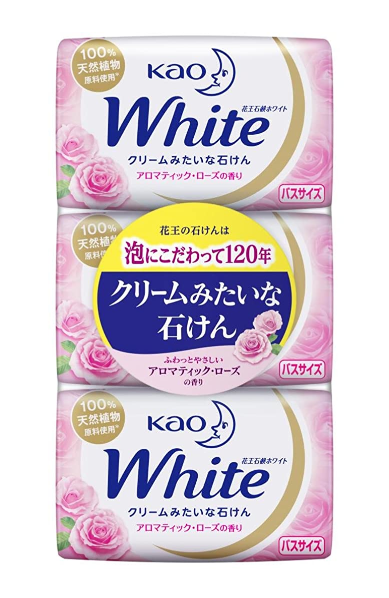 不愉快腐敗した登録花王ホワイト アロマティックローズの香り バスサイズ 3コパック