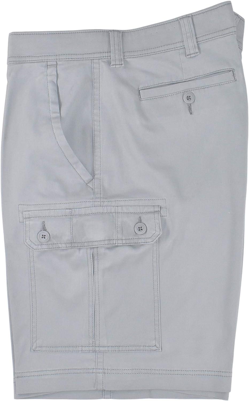 St. John's Bay Men's Power Stretch Cargo Shorts (High Rise Grey)