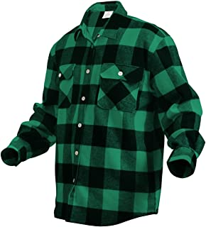 Rothco Extra Heavyweight Buffalo Plaid Flannel Shirts f9c5f337dde