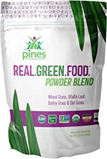PINES Real.Green.Food. Organic Superfoods Powder Blend, 8 Ounce | Made with Organic Whole Foods, Non-GMO and Sustainable