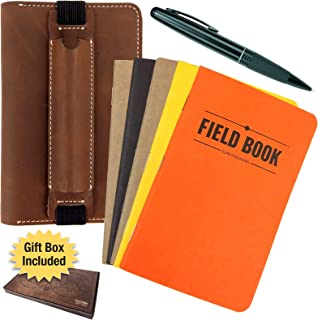 Best leather journal with pen holder Reviews