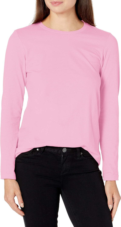American Apparel Women's Fine Jersey Classic Crewneck Long Sleeve T-Shirt