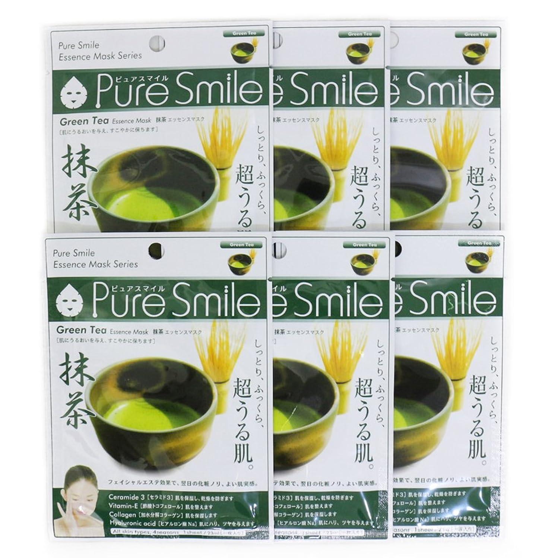 人差し指上向き規模Pure Smile ピュアスマイル エッセンスマスク 抹茶 6枚セット