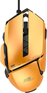James Donkey 325 Gaming Mouse 3000 DPI ADNS3050 Optical with Aluminum Alloy with 6 Macro Button RGB Chroma Light 20 Million Click Switch Ergonomic Wired Gamer Mice for Windows Mac PC – Orange