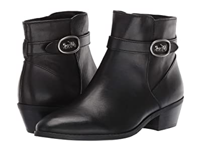 COACH Dylan Horse and Carriage Bootie (Black Leather) Women