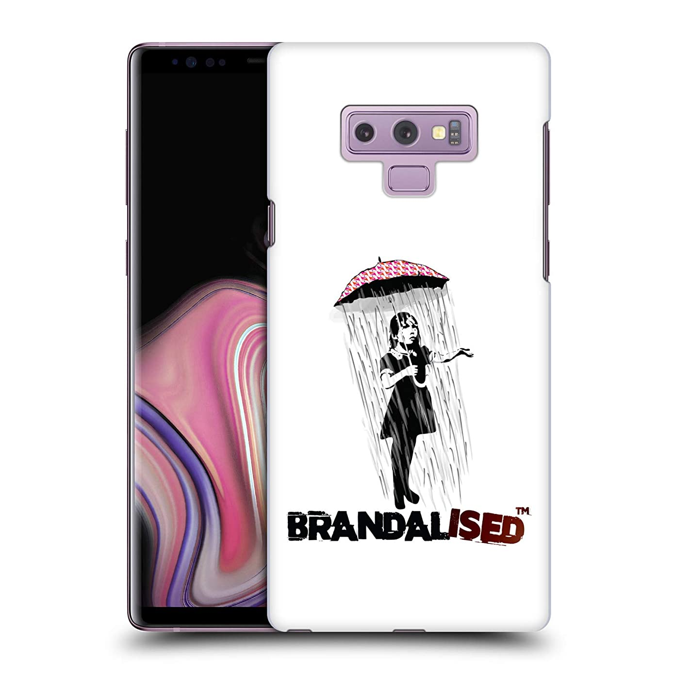 Official Brandalised Umbrella Girl Banksy Wall Art Hard Back Case Compatible for Samsung Galaxy Note9 / Note 9
