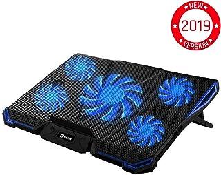 KLIM Cyclone Ventola per PC Portatile - Base di Raffreddamento per Computer - Il Miglior Raffreddamento - 5 Ventole - Ventilato Cooling Pad - Gioco Videogiochi Cooler - Blu [ Nuova Versione 2019 ] - Trova i prezzi più bassi