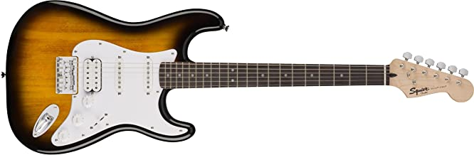 Best Squier by Fender Bullet Stratocaster Beginner Hard Tail Electric Guitar - HSS - Brown Sunburst Reviews