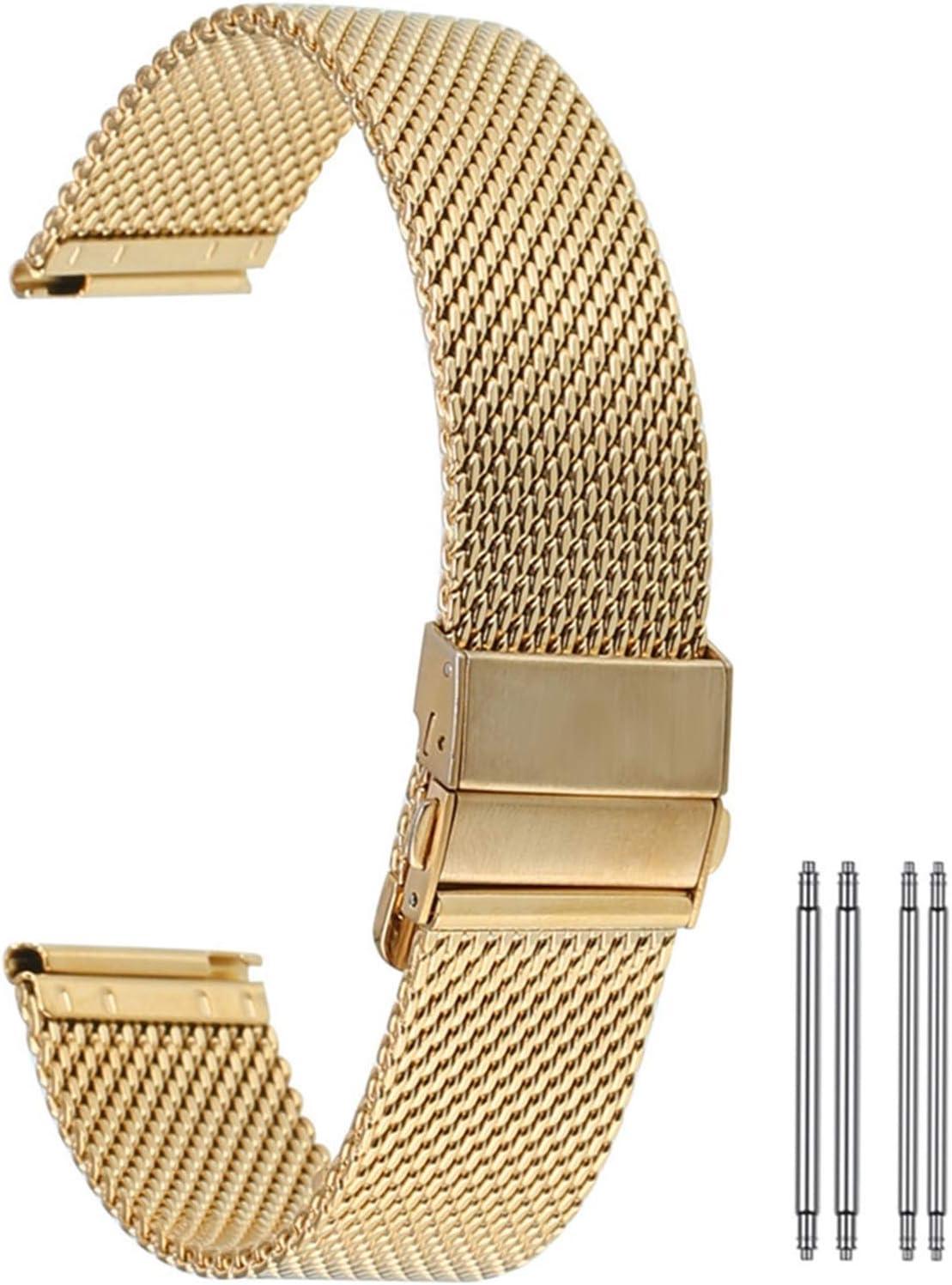 Soldering ZXF Watch Strap 18 20 22mm Stainless Bu Steel Mesh Fresno Mall Double