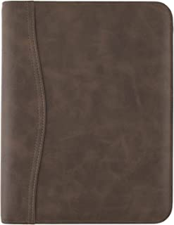 AT-A-GLANCE Simulated Leather Undated Starter Set, 43184 DAY-TIMER, Desk Size, Distressed Brown (031-0140-04), 5.5 inches ... photo