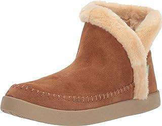 Sanuk Women's Nice Bootah Suede Boot, Chestnut, 6 M US