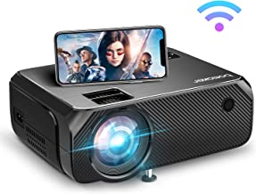 Wi-Fi Mini Projector, Bomaker Portable Projector for Outdoor Movies, 6000 Lux, Full HD 1080P Supported Outdoor Movie Proje...