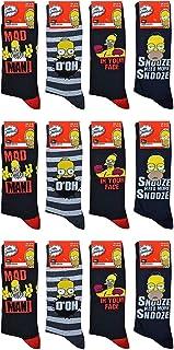 12 pares de calcetines Simpson para hombre, idea de regalo secreta de Papá Noel